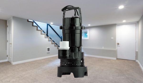 sump pump in basement