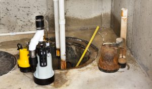 old sump pump replaced by a combination sump pump